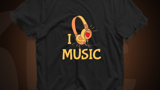 I Love Music Graphic T-shirts in Navi Mumbai