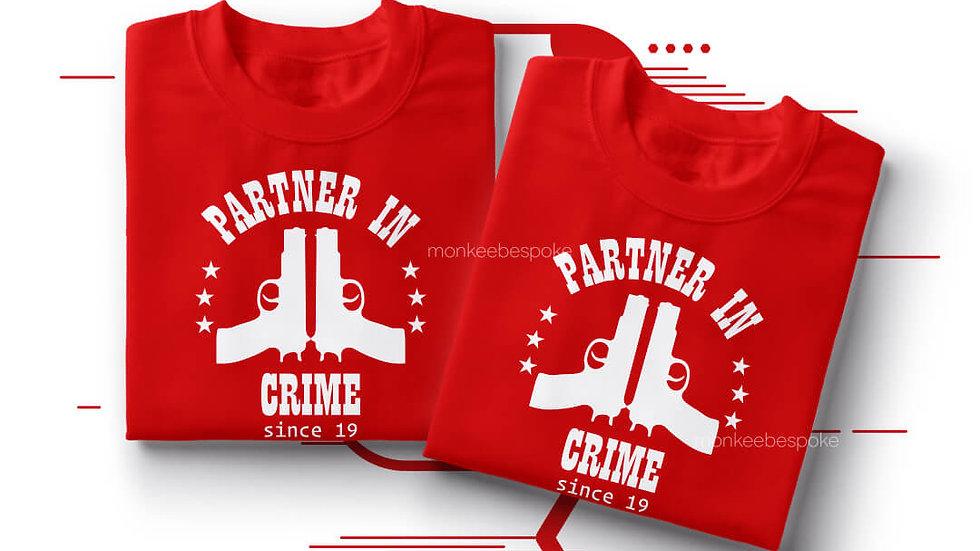 Partner In Crime Best Friends T-shirts in Navi Mumbai