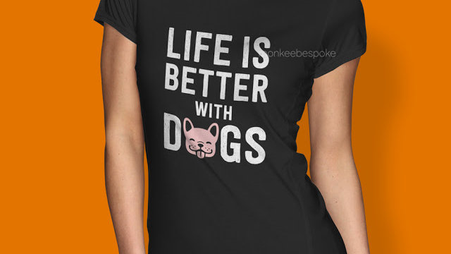 Life is Better with Dogs T-shirt in Navi Mumbai