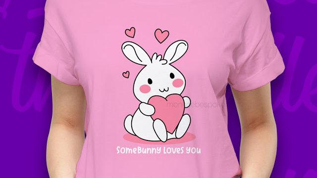Cute Bunny T-shirts In Navi Mumbai.