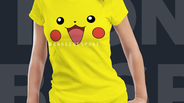 Yellow Pikachu Printed T-shirt In Navi Mumbai