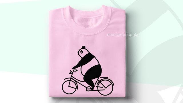 Cute Cycling Panda Printed T-shirt in Navi Mumbai