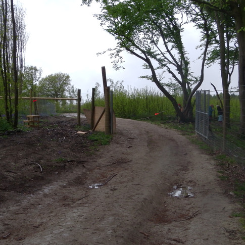 Deer proof gate at top of Estate land