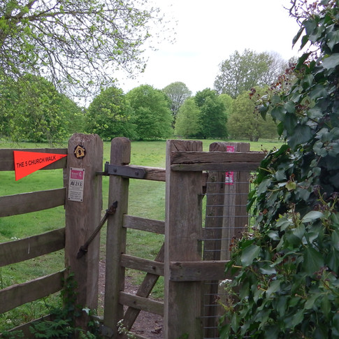 Gate adjacent to St Christophers