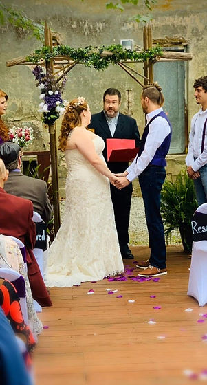robert and leigh ceremony with me good p