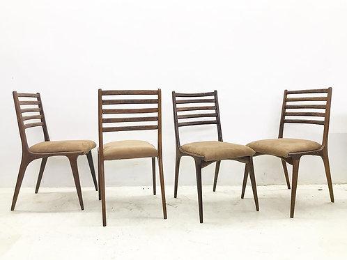Conjunto de 4 cadeiras em Jacarandá
