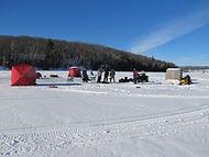 ice fishing on Wakomata Lake