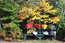 Canoes and Kayaks for use