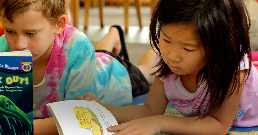 Private 4K and Preschool students reading in Madison, WI at Kids Express Learning Center