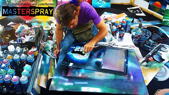 equipment,materials, tools for spray paint art