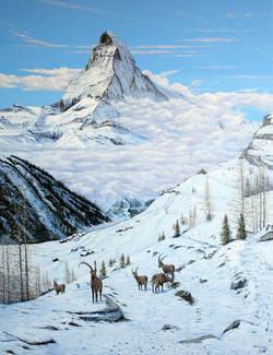 Mark Lodge_Winter View Near Sunnegga