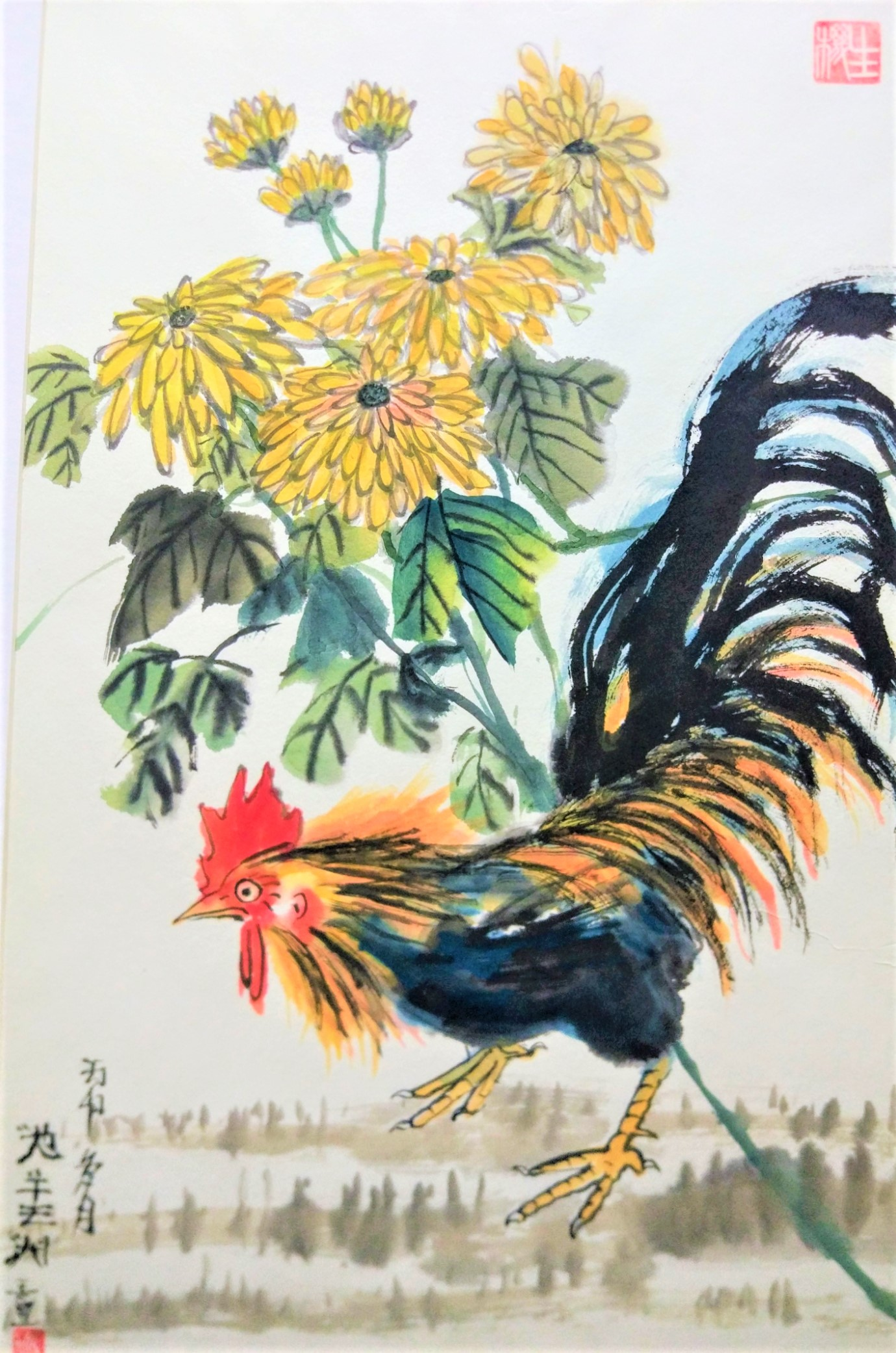 Autumn rooster