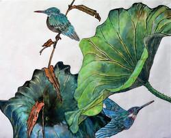 Kingfishers & Lotus