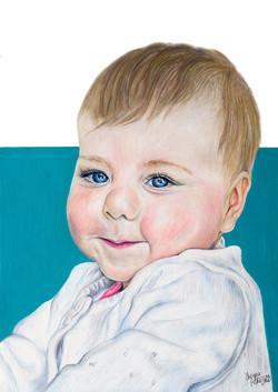 Baby Portrait Oil Pastel - Sheona Fothergill