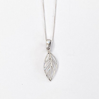 Sterling Silver Open Leaf Pendant