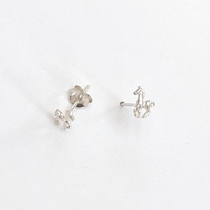 Sterling Silver Horse Studs