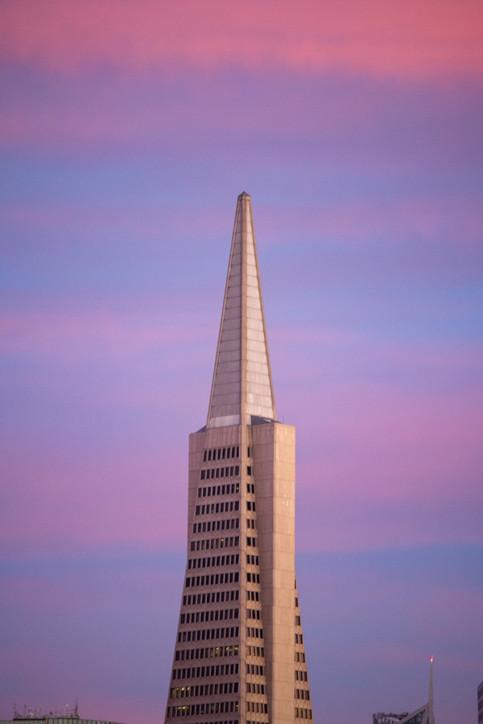 Transamerica Pyramid at Sunset