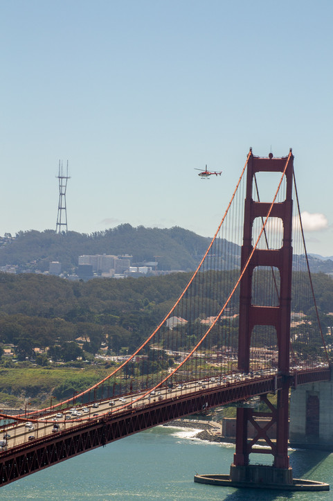 Chopper over the bridge