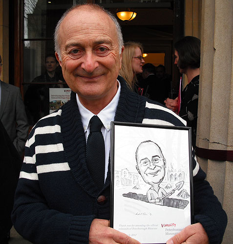 celebrity caricature Tony Robinson