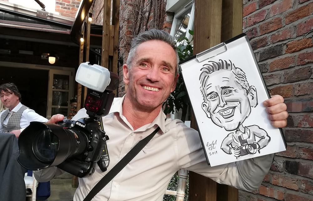 wedding caricature caricaturist manchester