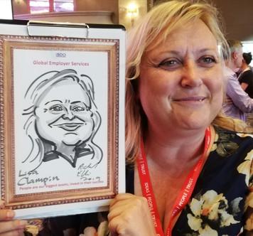Caricature art for corporate entertainment