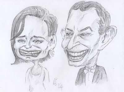Slightly political caricature