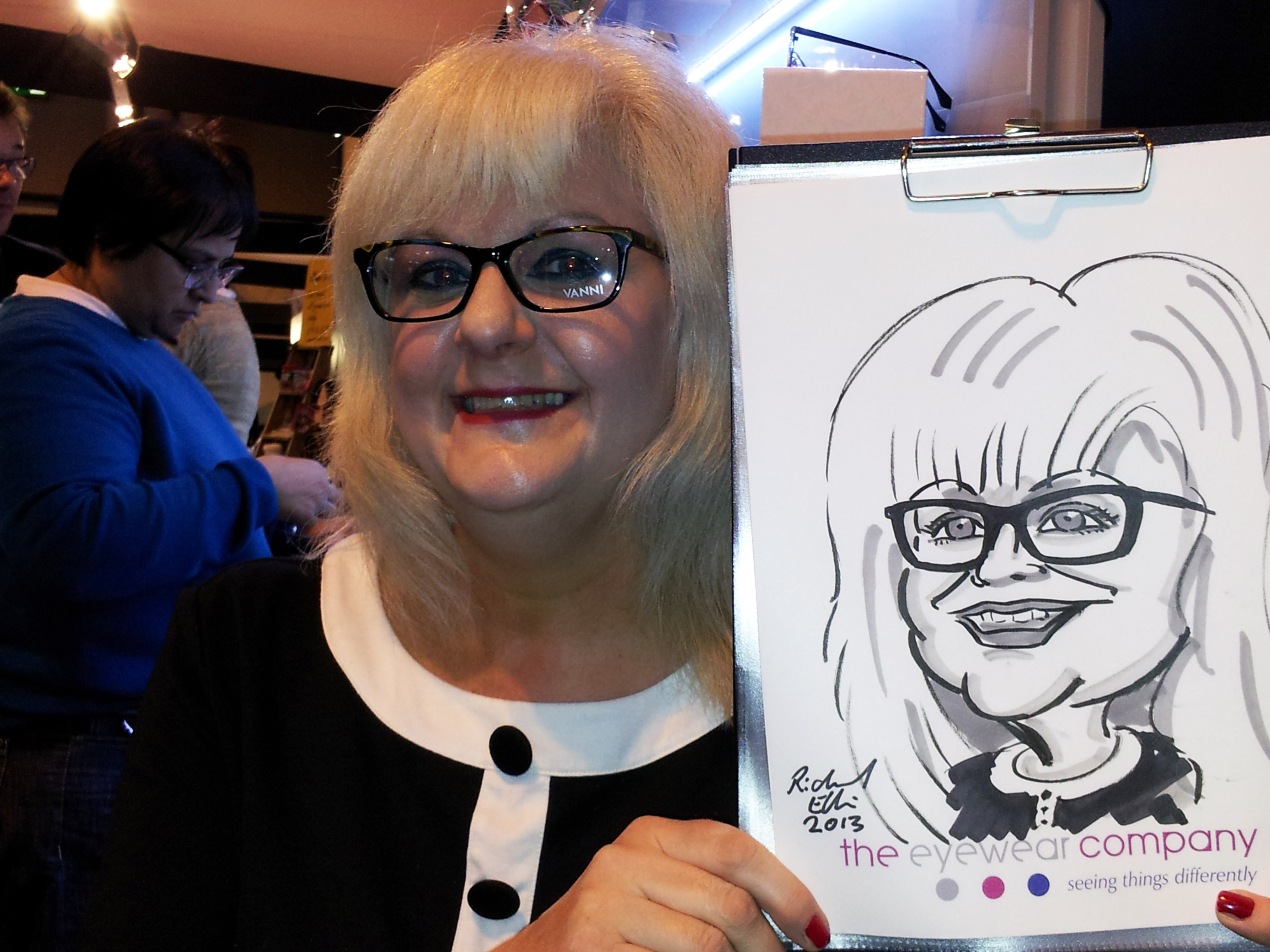 Caricature for exhibition trade show