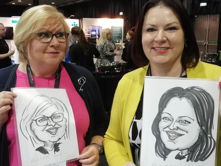 Caricatures at a Medical Conference