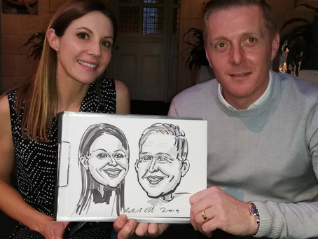 Birthday party caricatures