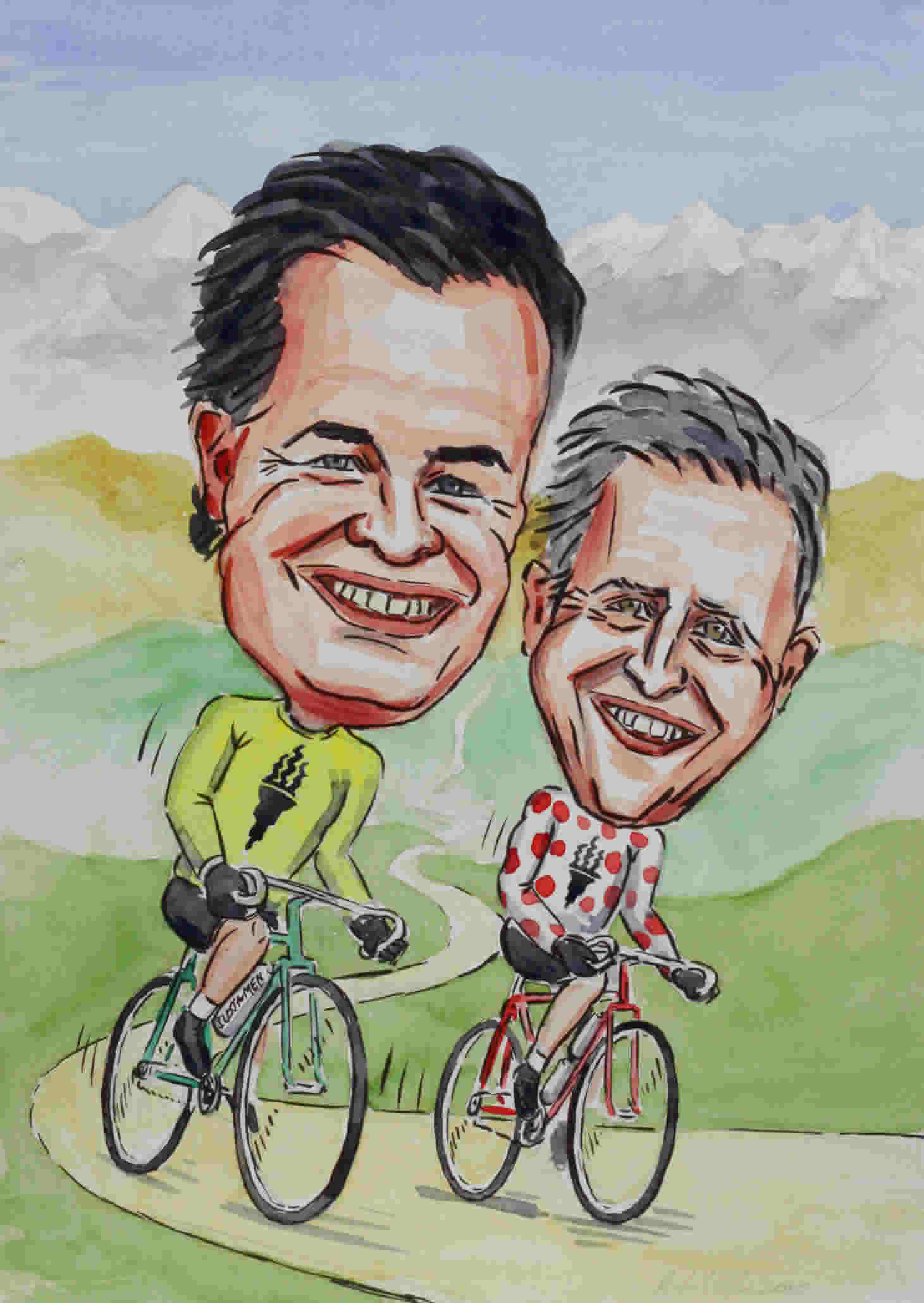 Sports caricature