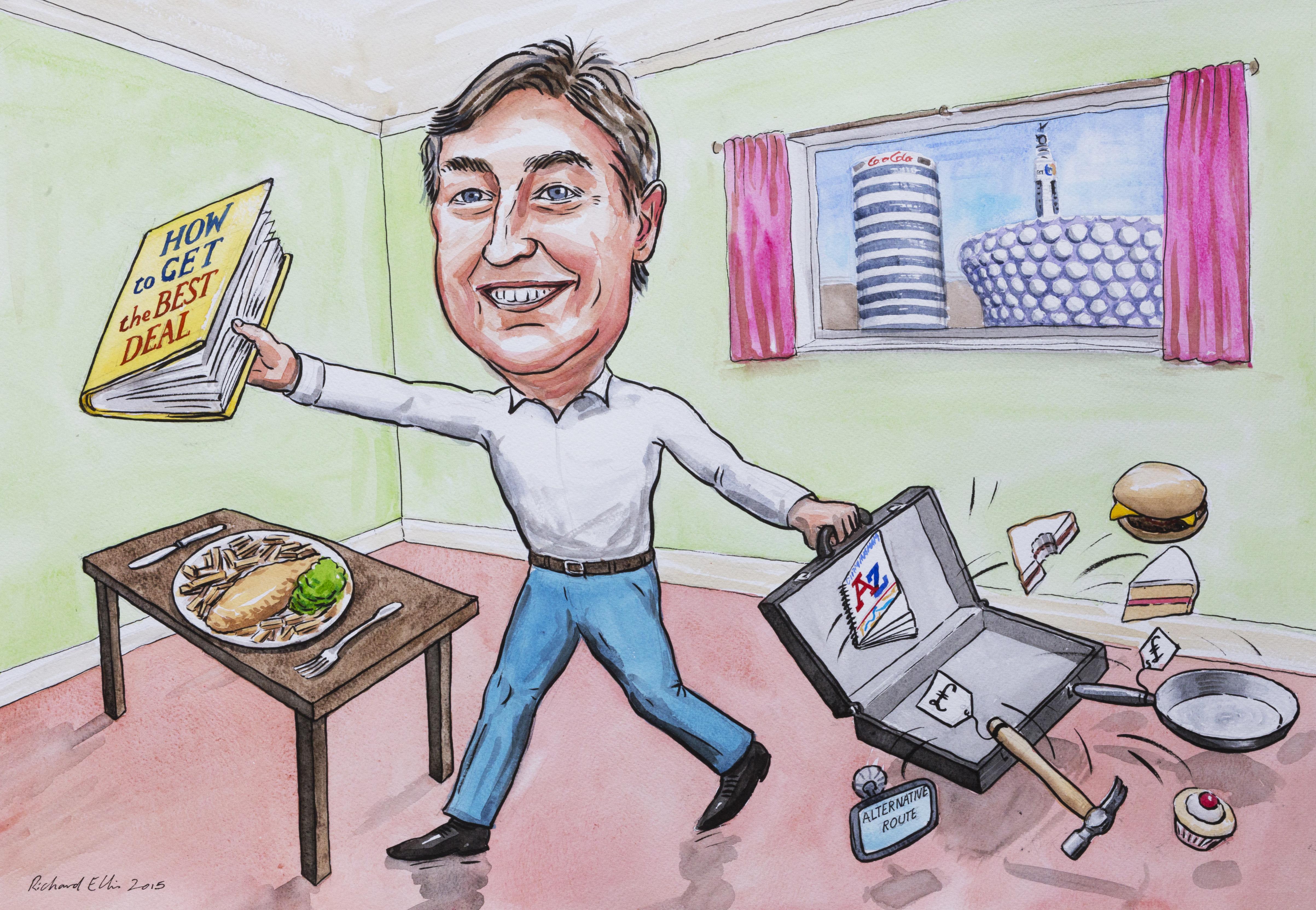 caricaturist retirement gift