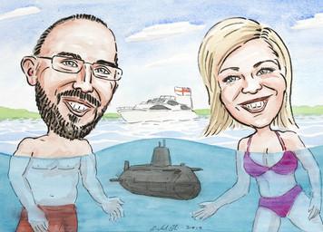 Underwater caricature...