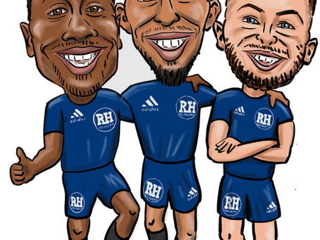 Sports caricature for vehicle graphics