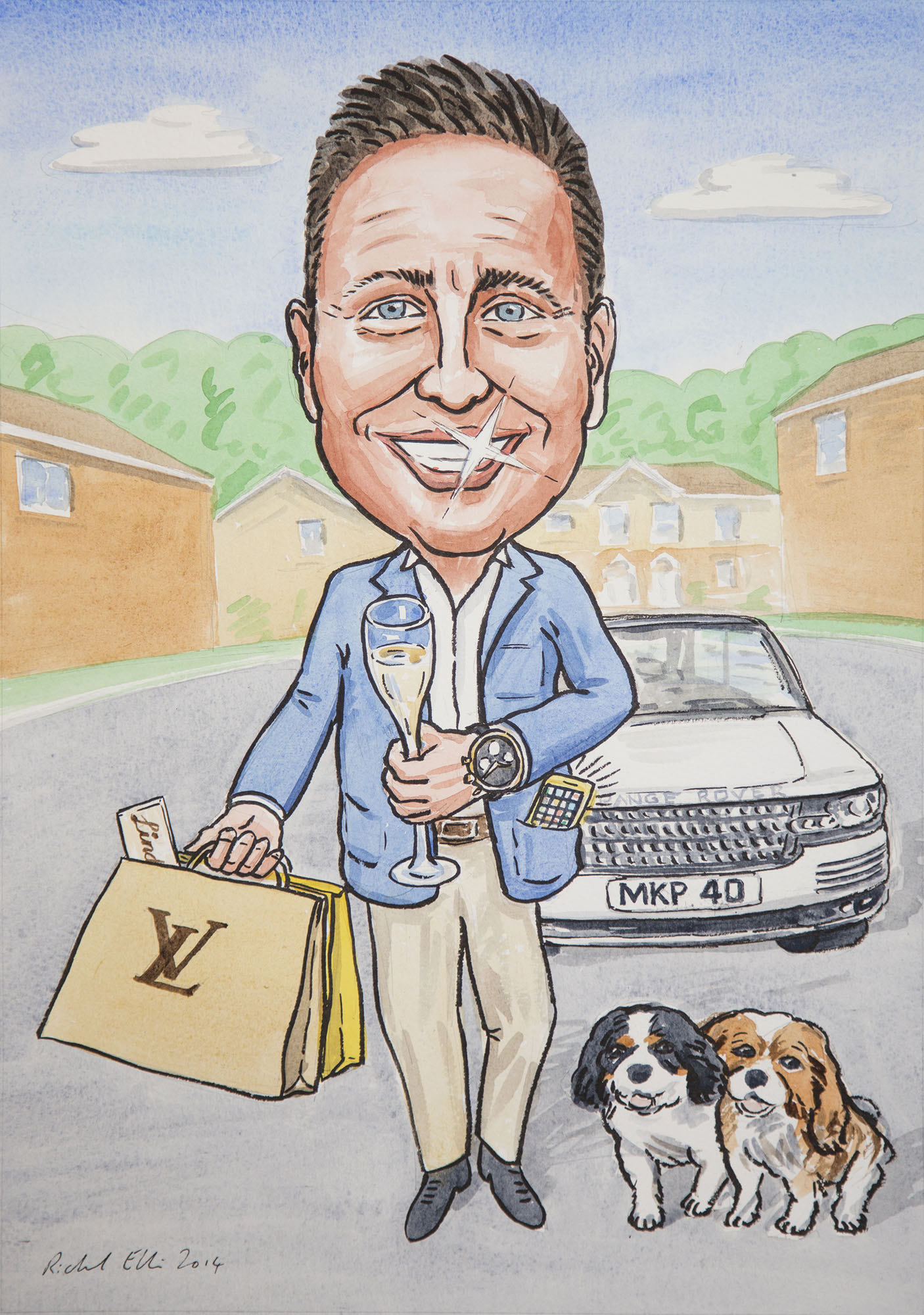 Caricaturist gift from photos