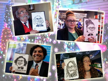 Caricatures for your Christmas party