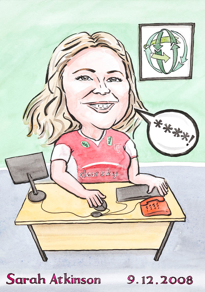 Caricature from photo for gift for long service