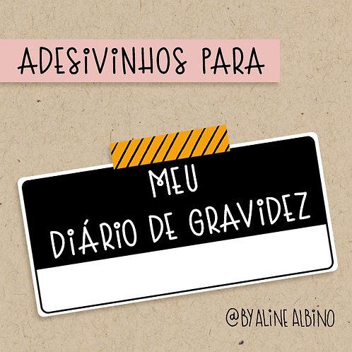 Adesivinhos DIÁRIO DE GRAVIDEZ