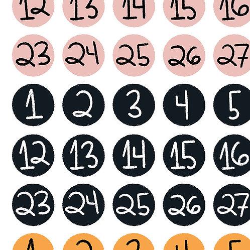 Adesivinhos de Números