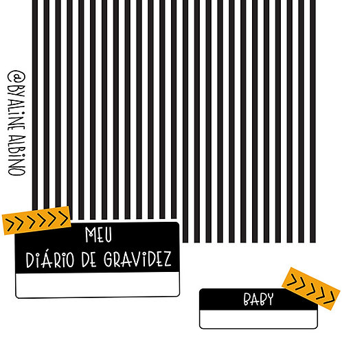 DIÁRIO DE GRAVIDEZ - LISTRADO