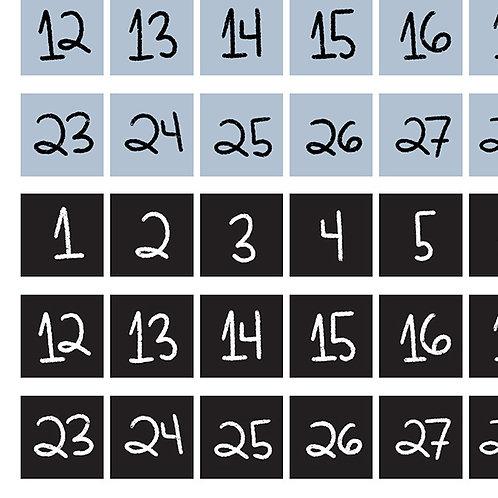 Números - Quadradinho