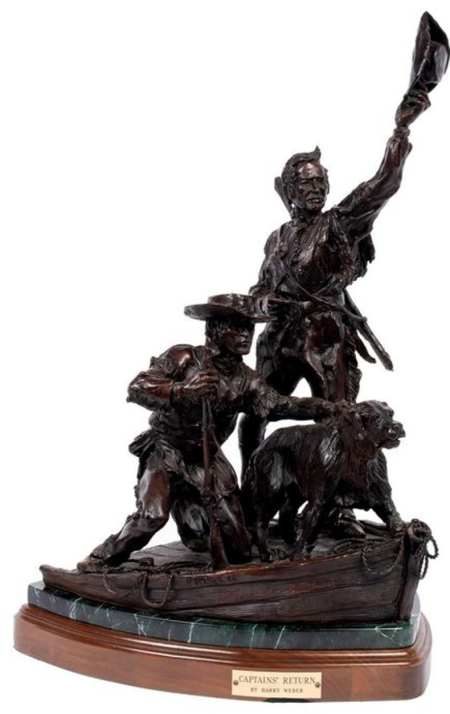 Bronze, The Captain's Return by Harry Weber, sold $12,000 12.14.2019 at Selkirk Auctioneers (St Louis)