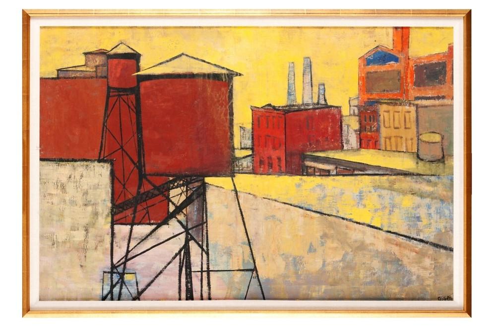 Arthur Osver Modernist landscape sold $5,938 on 11.09.19 at Selkirk Auctioneers (St. LOuis)