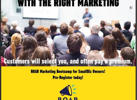 Pre-Register for ROAR Marketing Bootcamp
