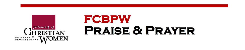 FCBPW Praise & Prayer Event Banner image