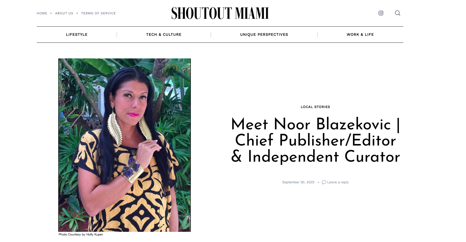Meet Noor Blazekovic | Chief Publisher/Editor & Independent Curator