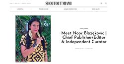 Meet Noor Blazekovic | Chief Publisher/Editor & Independent Curator