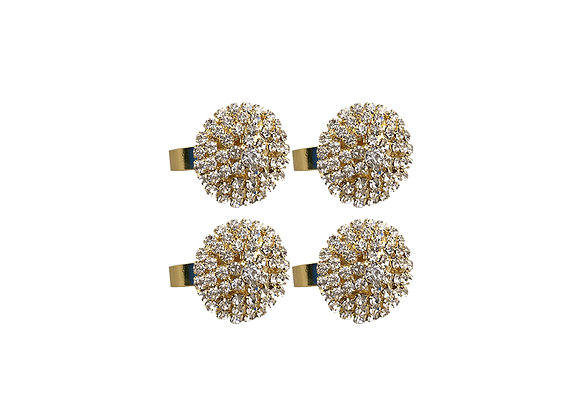 Starburst Napkin Rings | Gold [Set of 4]