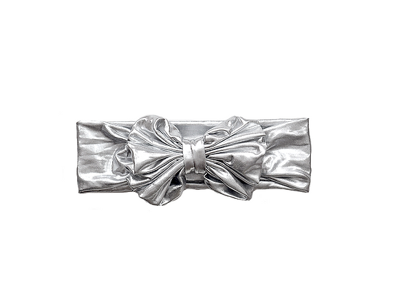Bow Headwrap | Silver