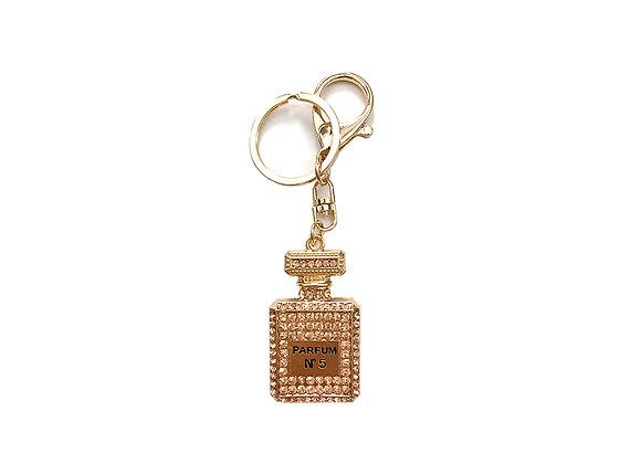 Parfum Bottle Keychain | Gold + Pink