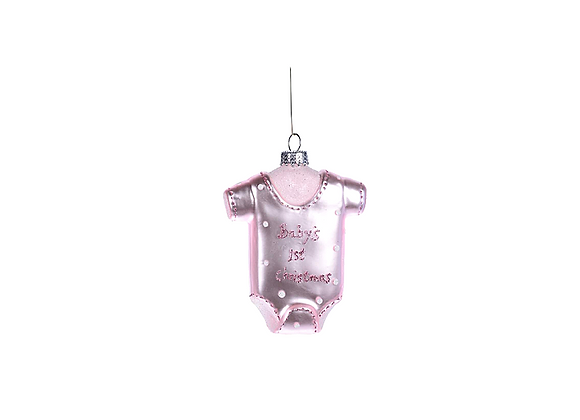 Baby's 1st Christmas Ornament | Pink